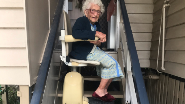 External Stair Lift at Customer Home