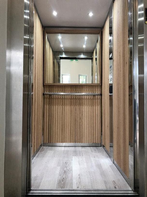 updated lift with doors open