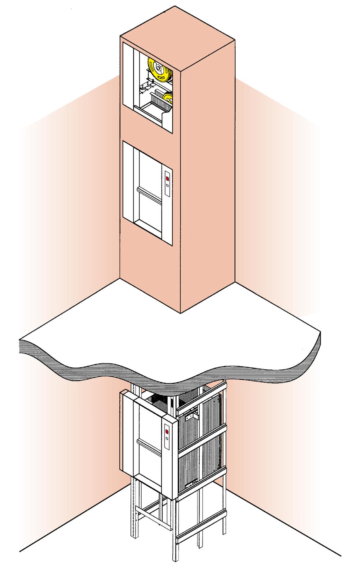 Service Lift Installation Illustration