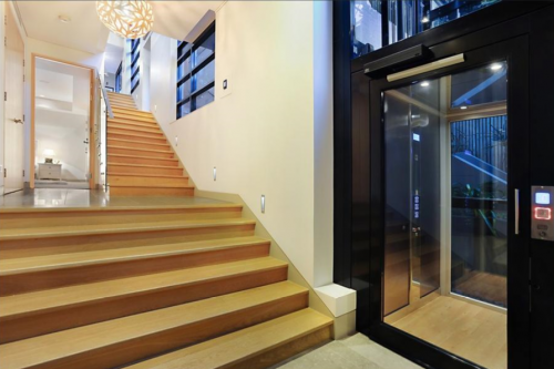 home lift next to stairs