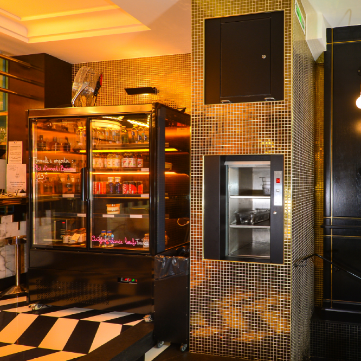 service lift in bar front on Dumbwaiter | Simplex Elevators Gallery Image 3