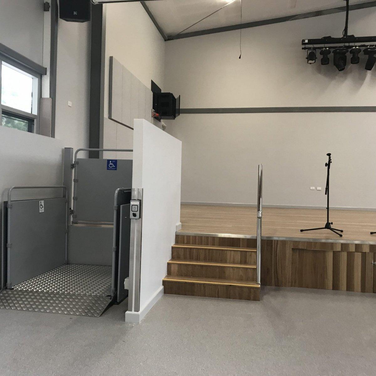 Vertical Platform Lift at stage Platform Lifts | Simplex Elevators Gallery Image 5