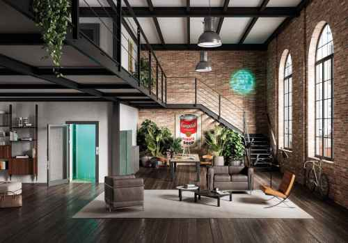 home elevator in loft apartment
