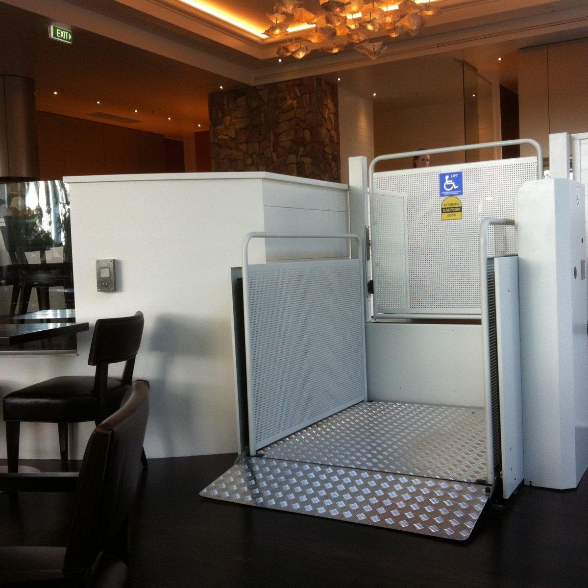 Vertical Platform Lift in restaurant Platform Lifts | Simplex Elevators Gallery Image 8