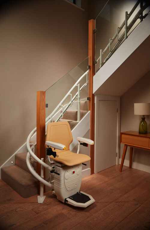 curved stair lift ready to use