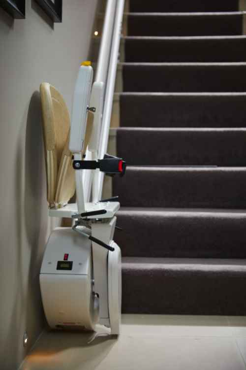 straight stair lift folded