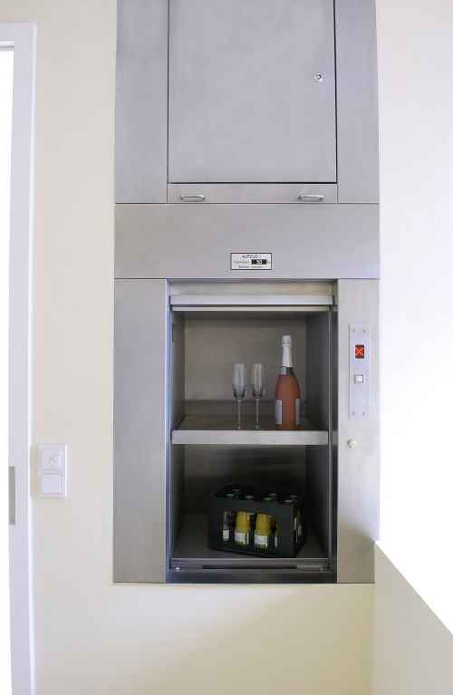 service lift with drinks