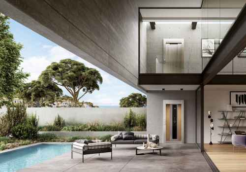 home lift interior and exterior entries