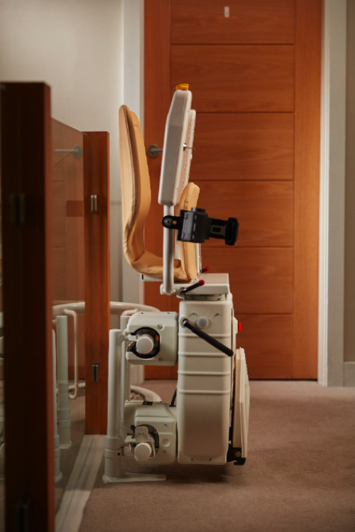stair lift in closed position