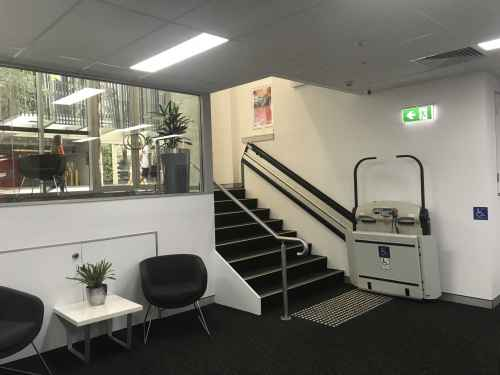 Incline Platform Lift in commercial setting