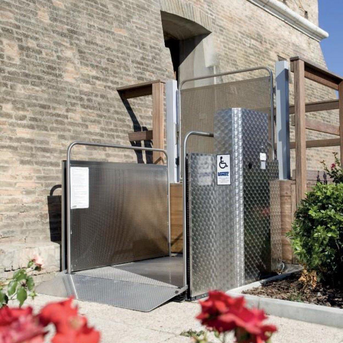 Vertical Platform Lift outside building Platform Lifts | Simplex Elevators Gallery Image 1